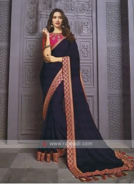 Jacquard Chiffon Silk Designer Saree