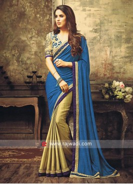 Jacquard Chiffon Silk Embroidered Half Saree