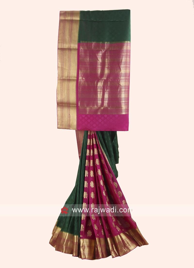 Jacquard Crepe silk Designer Saree