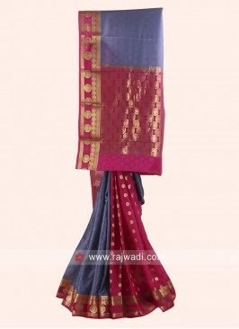 Jacquard Crepe Silk Wedding Saree