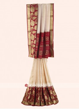 Jacquard Crepe Silk Woven Saree