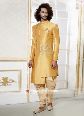 Silk Fabric Indo Western For Wedding