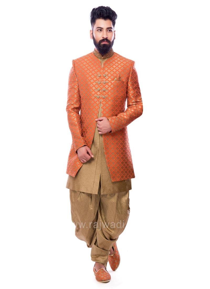 Jacquard Fabric Indo Western