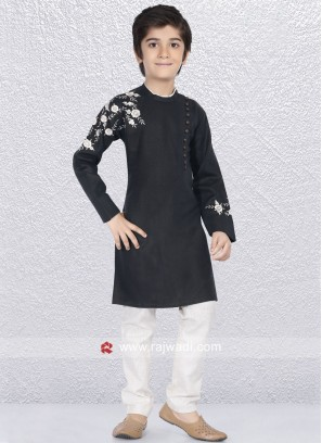 Stylish Black Kurta Set