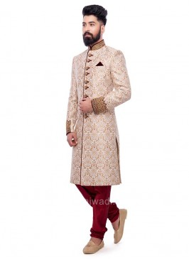 jacquard Fabric Sherwani