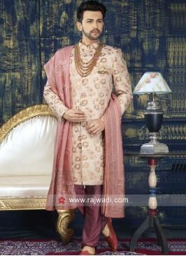 Jacquard Silk Indo Western