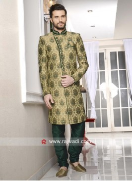 Jacquard Silk Mens Wedding Indo Western