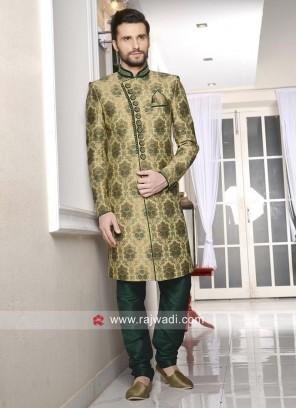 Jacquard Silk Mens Wedding Indo Western