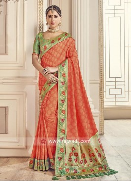 Jacquard Silk Sari with Blouse