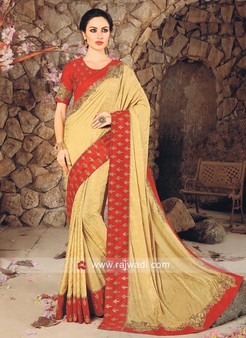 Jacquard Silk Stone Work Saree