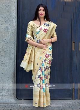 Jamdani Silk Wedding Saree