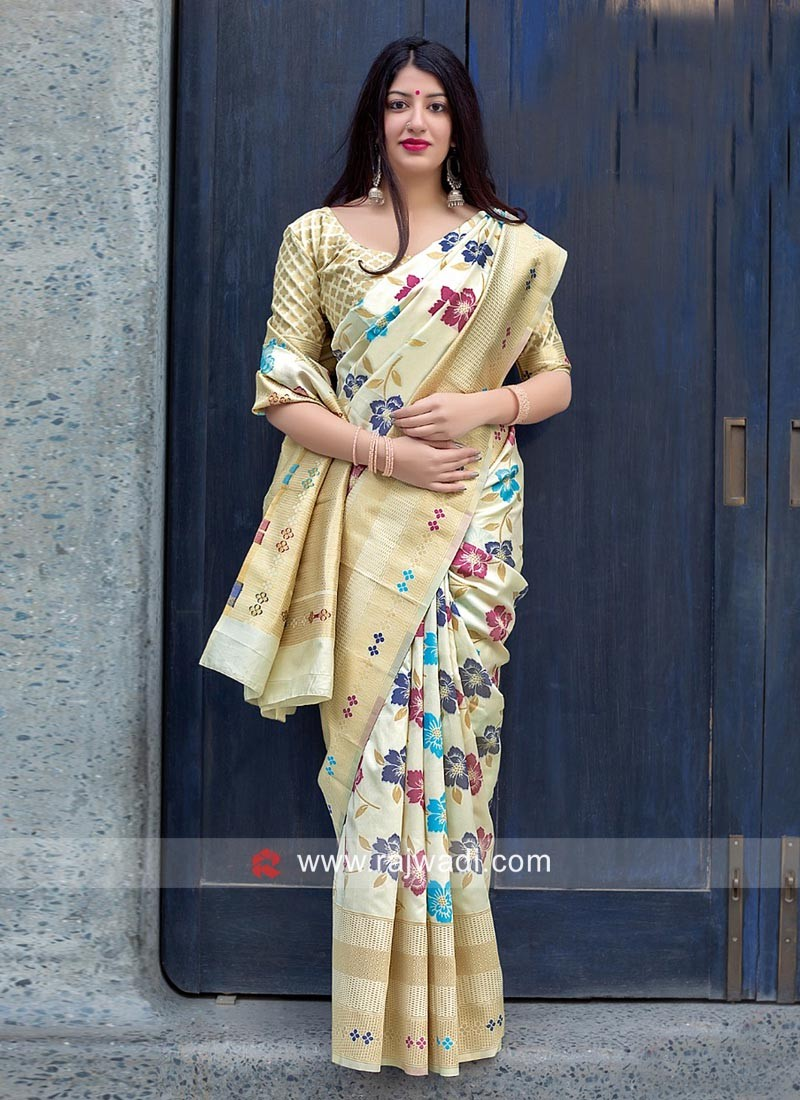 Jamdani Silk Wedding Saree
