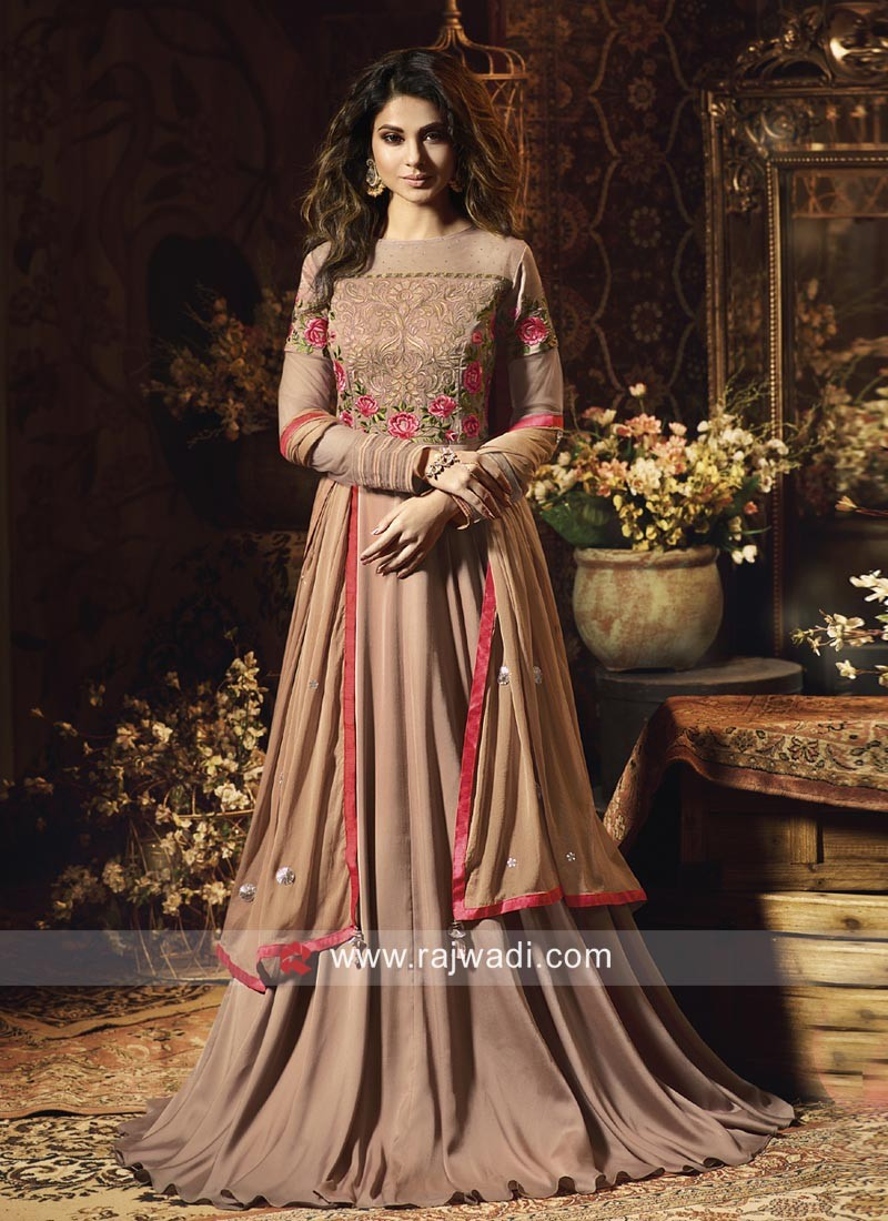 ad6e036713 Jennifer Winget Floor Length Eid Anarkali Suit. Hover to zoom