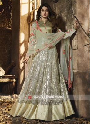 4efbb2f59b Jennifer Winget Lycra Anarkali Suit for Eid