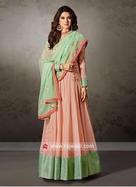 Jennifer Winget Semi Stitched Net Salwar Kameez