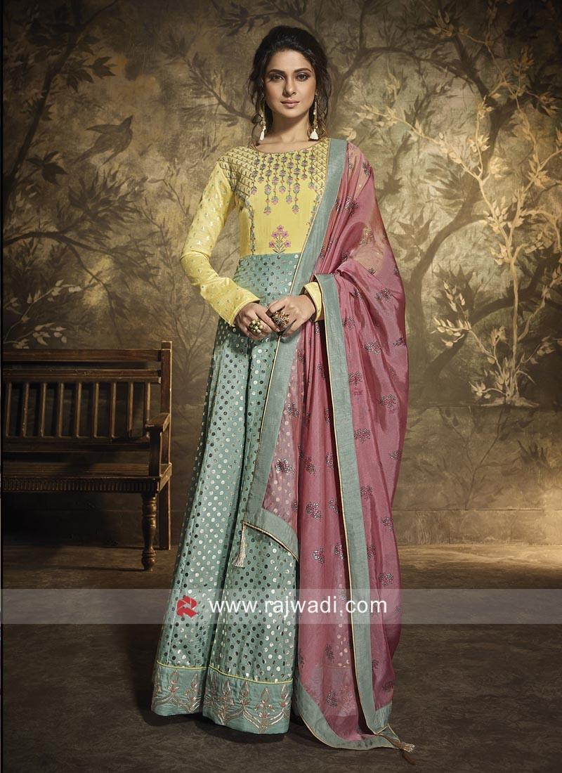Jennifer Winget Silk Anarkali Suit for Eid