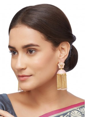 Jhumar Style Meenakari  Earrings