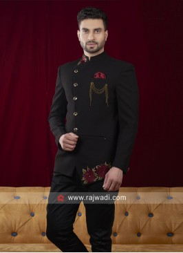 Jodhpuri in Black color