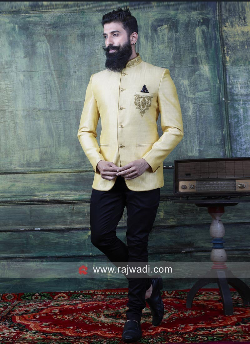 Charming Yellow Color Jodhpuri Suit