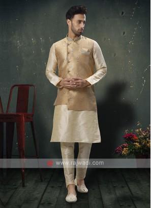Jute Fabric Mens Nehru Jacket