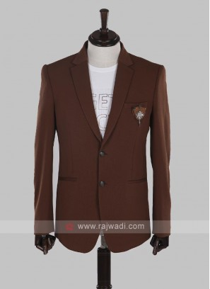 jute silk brown blazer