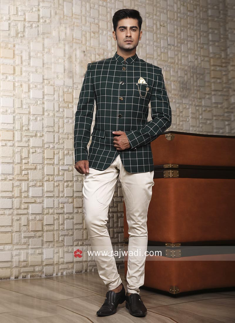 Jute Silk Fabric Jodhpuri Suit