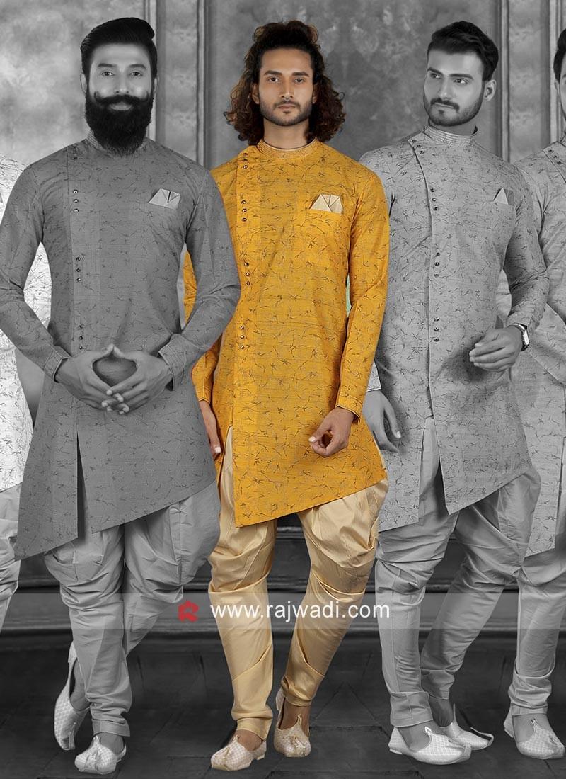 Satin Silk Fabric Mens Indo Western