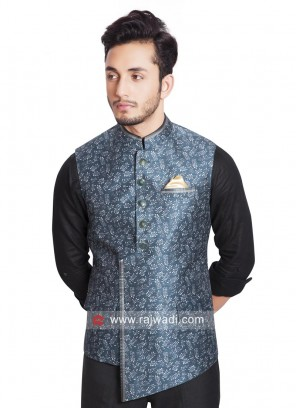 Cotton Silk Fabric Mens Koti