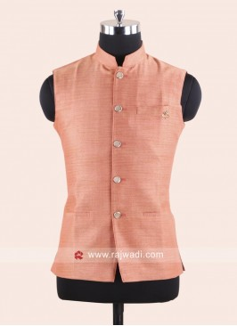 Jute Silk Fabric Mens Koti