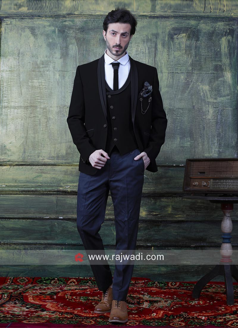 Imported Fabric Black Suit
