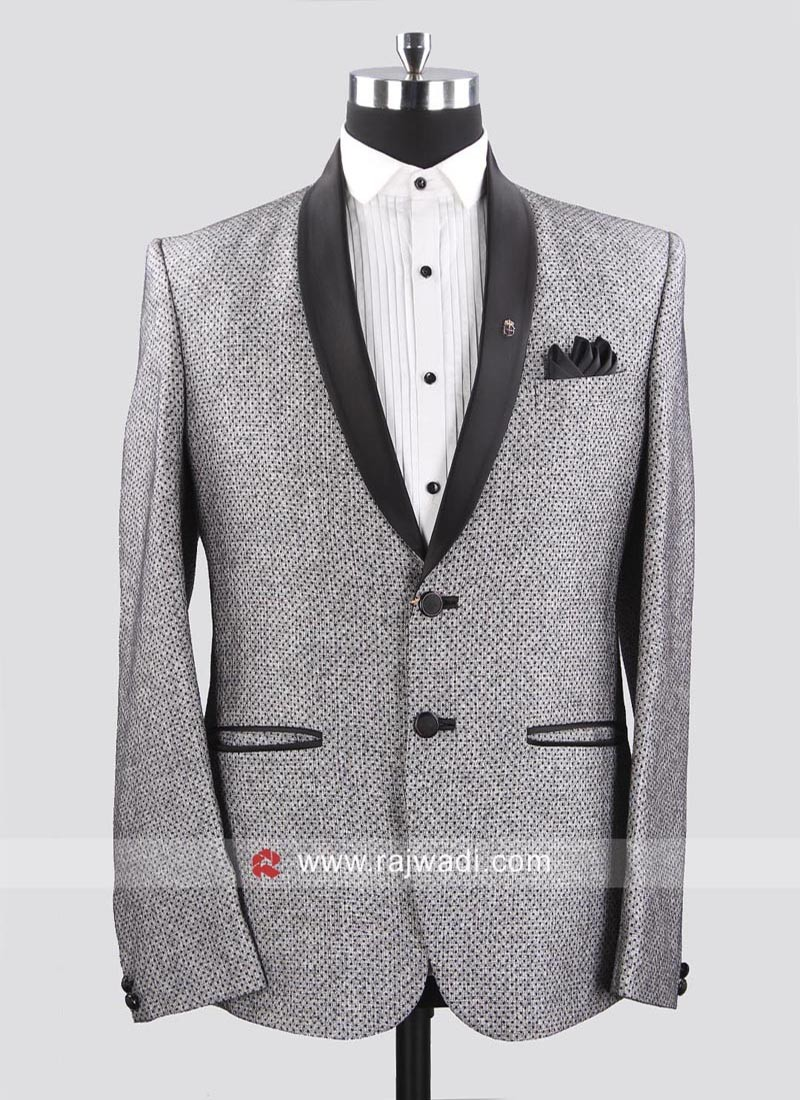 Jute Silk Fabric Pale Grey Suit