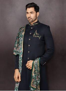 Jute Silk Sherwani For Wedding
