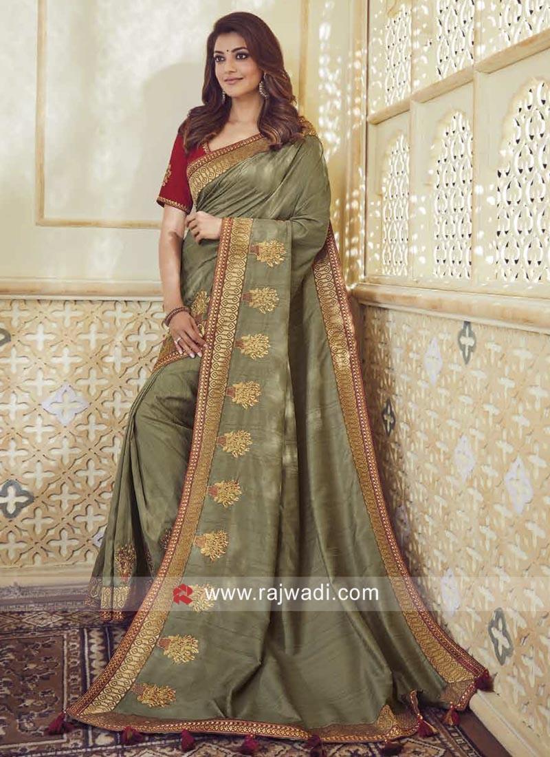 Kajal Aggarwal Art Silk Saree