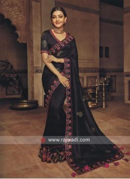 Kajal Aggarwal Art Silk Saree in Black