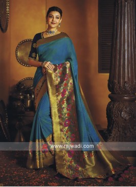 Kajal Aggarwal Art Silk Saree with Border