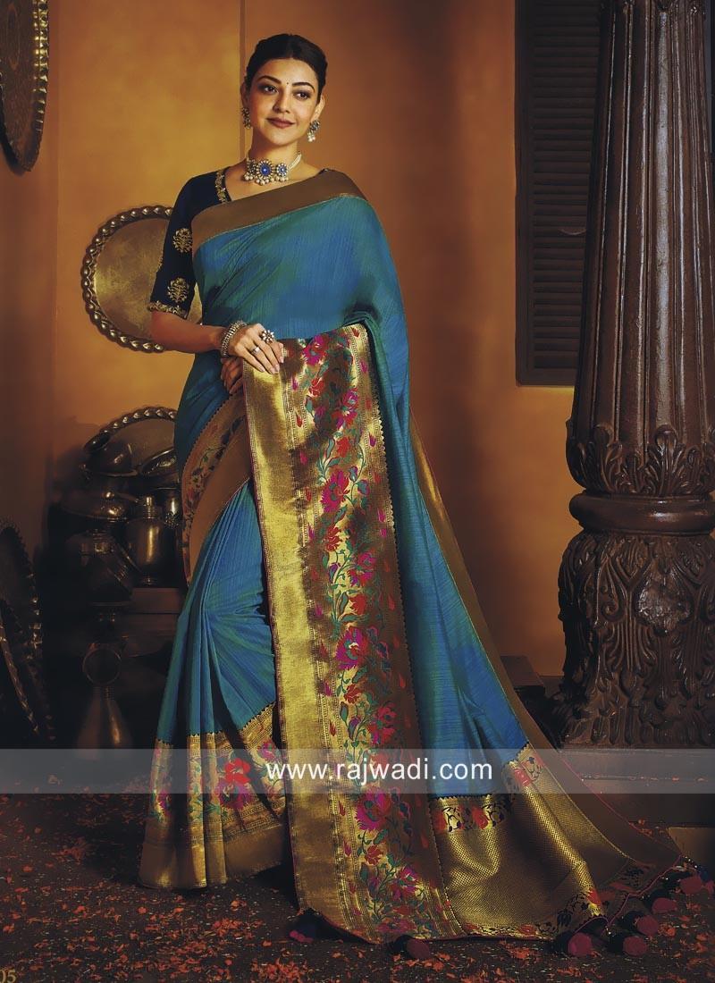 Kajal Aggarwal Art Silk Saree with Border
