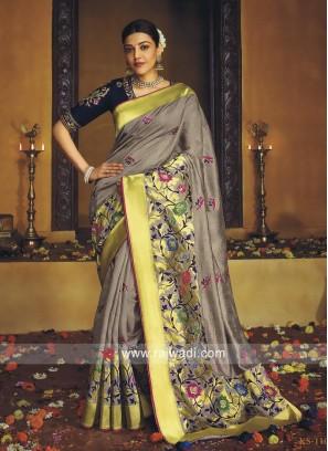 Kajal Aggarwal Banarasi Silk Saree