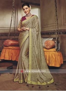 Kajal Aggarwal Chiffon Silk Saree
