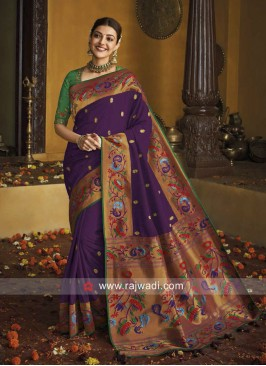 Kajal Aggarwal Designer Saree  with Blouse