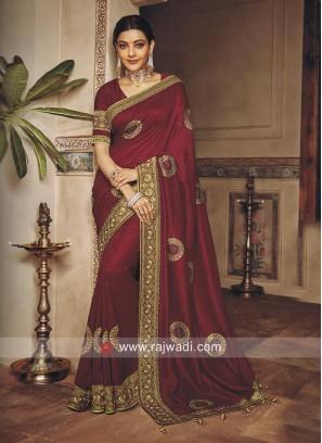 Kajal Aggarwal Embroidered Saree