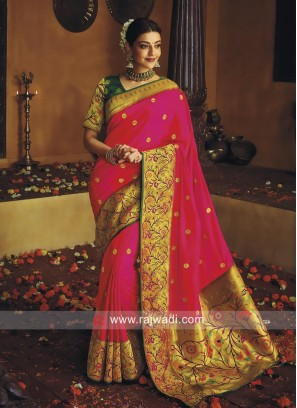 Kajal Aggarwal Embroidered Saree