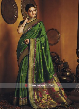 Kajal Aggarwal Green Saree with Blouse