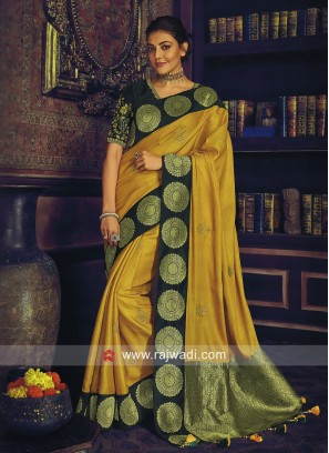 Kajal Aggarwal Mustard Yellow Saree with Blouse