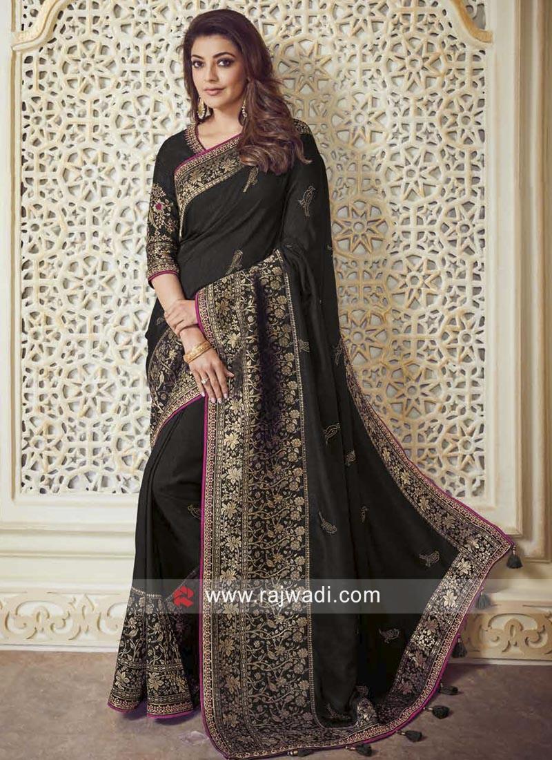 Kajal Aggarwal Saree in Black