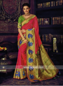Kajal Aggarwal Satin Silk Saree
