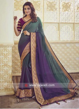 Kajal Aggarwal Shaded Saree with Border