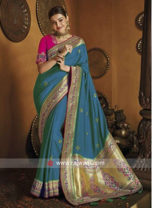 Kajal Aggarwal Wedding Art Silk Saree
