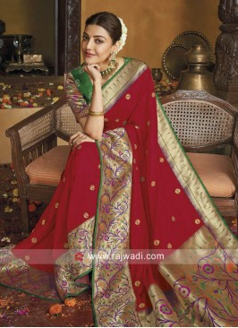 Kajal Aggarwal Wedding Saree in Red