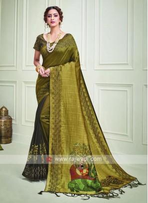 Kalamkari Printed Silk Saree