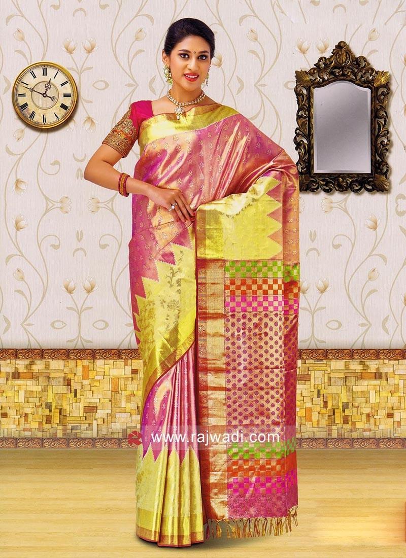 Kancheepuram Silk Saree in Light Pink